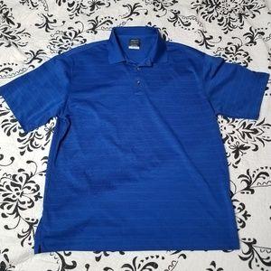 Nike golf drifit royal blue polo size L
